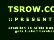 Brazil Shemale Alicia Nugueira Fucked Bareback