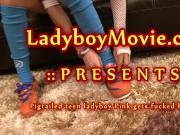 Pigtailed Ladyboy Pink Gets Fucked Bareback