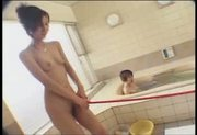 Kinky Japanese girls play with their slave
