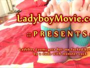 Teen Ladyboy Lyomi Fucked Bareback
