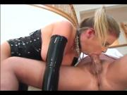 Huge-Busted Blonde Nympho In Hot Latex Stockings Enjoys Oral And Sex
