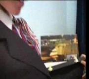 Retro Stewardess Spreads Fuckhole For