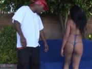 Ravishing Ebony Slut Sucks Dick & Fucks Monster Dark Cock