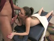 Talented Coed Has A Rub Down & Pussy ...