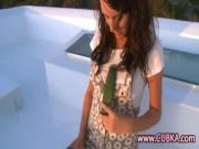 Kinky Girl Plays With Veggies Penis On Boat