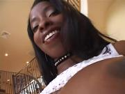 Titantic-Titted Ebony Sexpot Jams Thick Dick In Cunt & Bum-Hole