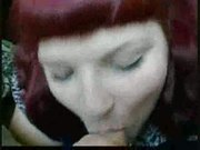 chubby redhead emo enjoys the cum