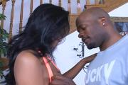 Sexy Awesome-Breasted Black Whore Enjoys Stiffy Riding