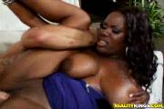 Busty Ebony Whore Fucks Pale Boner