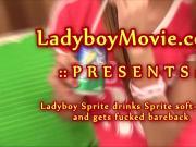 Ladyboy Sprite Getting Fucked Bareback