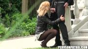 Turned-On Guy Gal Filmed Getting Laid In Backyard