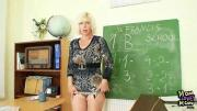 Old School Teacher Pleasures Pussy After School