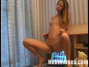 Racy Blonde Student Fingers Herself For You