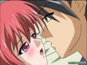 Japanese hentai hot sucking stiff dick and deep fucking