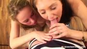 Two College Gals Share One Hung