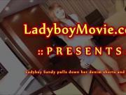 Ladyboy Sandy Jerking Off