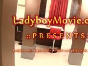 Thai Ladyboy MJ With Anal Beads