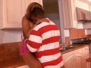 Captivating Ebony Babe Jams Rod In Mouth And Pussy