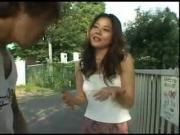 Naughty Japanese Girl Teases Lonely Stud