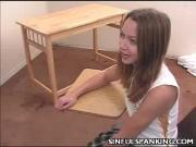 Sexy Teen Spanked