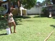 Sweet Ass Teen Gets His Hose In Public!