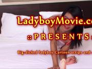 Hung Ladyboy Cartoon Masturbating