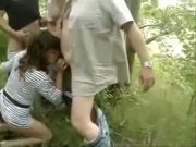 Thirsty Mom Deep Throats Throbbing Dicks Outdoors