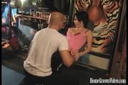 Horny Star Cums Over Personal Trainer