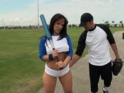 Sporty Hottie Shows Off Behind At Field