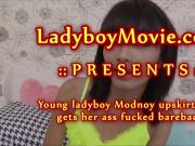 Young Ladyboy Modnoy Gets Fucked Bareback