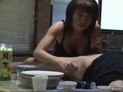 Brazen Asian Co-Ed Mira Sugihara Takes Needy Pole Up Her Mouth In The Table