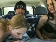 pleasing him in the car