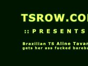 Latina TS Aline Tavares Bareback Fucking