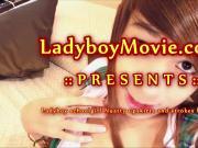 Ladyboy Schoolgirl Nutty Jerking Off