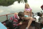 teen fucks him on the boat