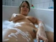 Hot girl plays with her pussy and gives BJ in POV