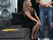 Two Fearless Blonde Milf Brandi Love & Julia Ann Do One Big Penis
