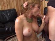 Great-Boobed MILF Screwed By ZZ Records' Owner