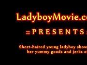 Young Ladyboy Jerking Off