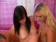 hot threesom. black and blonde hair babes