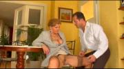big tit mature with the waiter