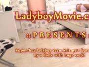 Teen Ladyboy Aris Gets Fucked Bareback
