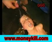 Different Wanton Chicks Enjoys Cum-Facial Released By Many Penises
