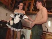 Anika Julia euro maid in the kitchen
