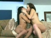 Danni Woodward makes out with her lesbian friend