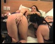 3 lesbians fucking with strap-on and more