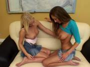 2 Sexy Lesbos Screw Each Other With Sex Toy
