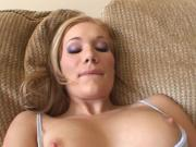 Foxy Blonde Chick Services And Bangs This Large Penis