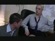 Bossy blonde gives her 2 employees a last chance