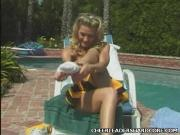 Cheerleader Ashley Poolside Sex